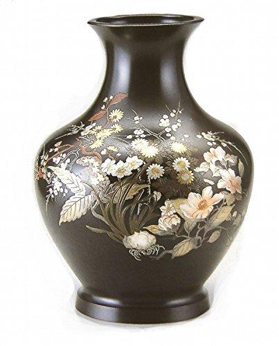 『大寿形 早春の花』銅製 ブロンズ 花瓶 花器 フラワーベース インテリア 花 植物【オブジェ 置物】【R210】 B074P2V1LK