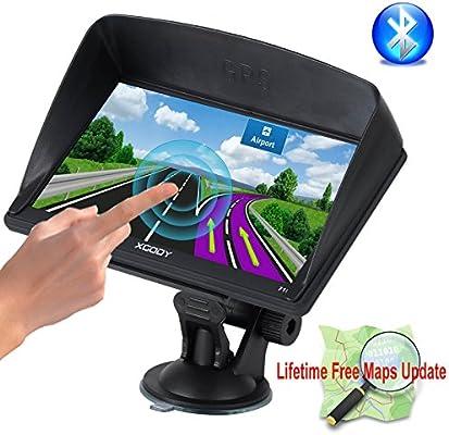 XGODY 715 Bluetooth portátil de coche GPS de 7 pulgadas 8 GB ROM sistema de navegación capacitiva pantalla táctil FM MP3 MP4 navegador apoyo Lifetime Maps ...