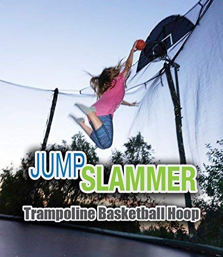 Jump Slammer Trampoline Basketball Hoop | Easy Install | Foam Ball Included | [Lifetime Parts Warranty] (Best Trampoline Basketball Hoop)