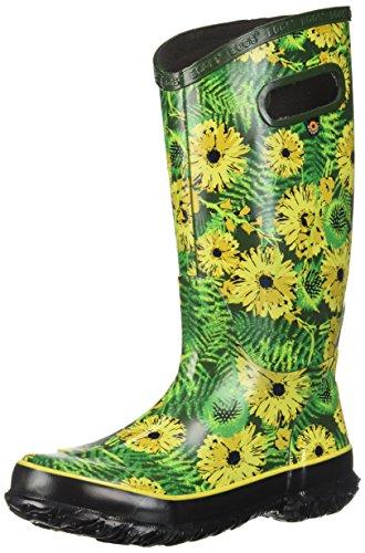 Bogs Women's Rainboot Living Garden Rain Boot, Green/Multi, 9 M US