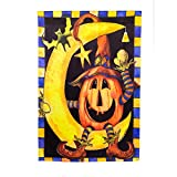Halloween Pumpkin Moon House Flag