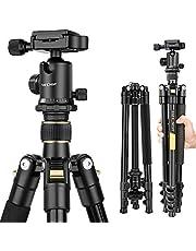 K&F Concept Trípode Completo TM2324 Trípode Flexible 156cm para Cámara Canon Sony Nikon con Rótula de Bola Placa Rápida Liberación Bolsa de Transporte para Vieja y Trabajo