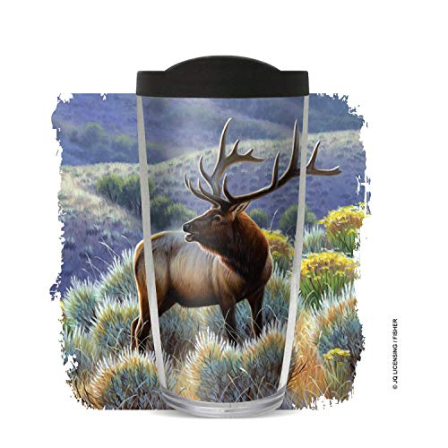 JQ Elk by Cynthie Fisher, 16oz with Black Lid