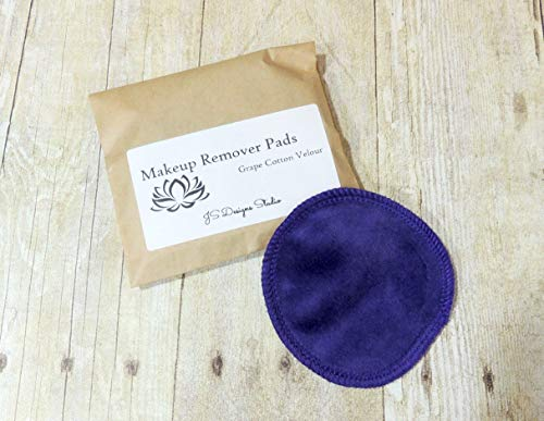 Reusable Makeup Remover Pads Grape Cotton Velour 5 Pack]()