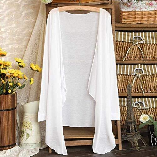 Long À Blanc Cardigan Pour Thin Transparent Casual L'été Sunscreen Longues Manches Zhrui Coton Confortable Modal Loose Couleurs Plusieurs Blouse vwa5EaqUx