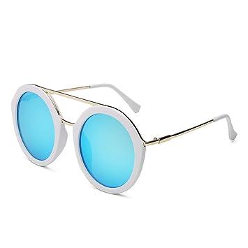 WKAIJC Retro Farbfilm Runde Dose Einfach Stilvoll Wild Komfort UV Paar Modelle Sonnenbrillen,B