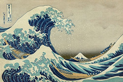 - The Great Wave off Kanagawa (Artist: Katsushika Hokusai) c. 1826 - Masterpiece Classic (24x36 SIGNED Print Master Giclee Print w/Certificate of Authenticity - Wall Decor Travel Poster)