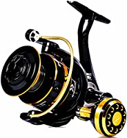 12+1BB Spinning Fishing Reel High Strength Cast Alloy Drive Gear Aluminum Spool Saltwater Freshwater Spinning