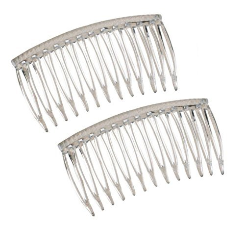 "Good Hair Days Grip Tuth Combs 40414 Set of 2, Clear 2 3/4"" Wide"