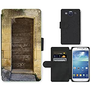 Hot Style Cell Phone Card Slot PU Leather Wallet Case // M00171018 Dordogne France Door Doorway // Samsung Galaxy S3 S III SIII i9300