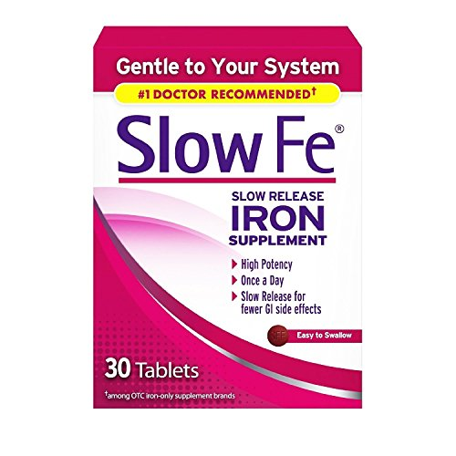 Slow Fe Slow Release Iron, 30 Tablets (Pack of 2)