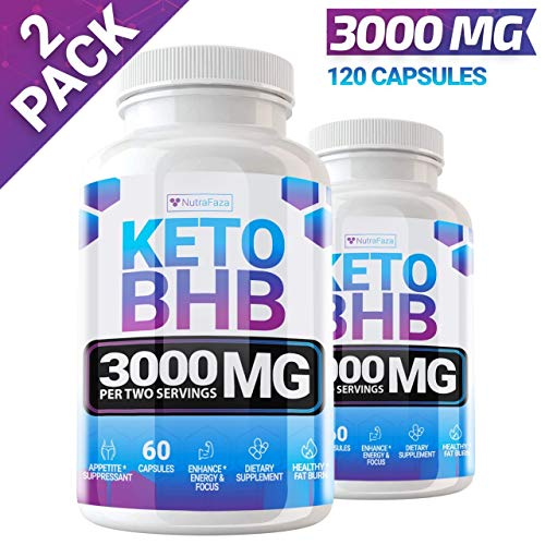 Keto Pills - (2 Pack | 120 Capsules) - 5X Potent - Advanced Keto Burn Diet Pills - Best Exogenous Ketones BHB Supplement for Women and Men - Boost Energy and Metabolism - with Garcinia Cambogia