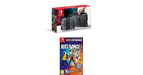 Nintendo Switch - Consola Color Gris + Just Dance 2017: Amazon.es: Videojuegos