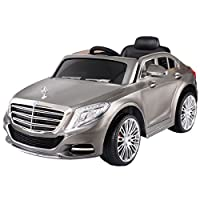 Siver Gray Kids Ride On 12V Power Electric Car MP3 RC Remote Control