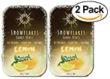 Snowflakes Xylitol Candy- Made with only 2 ingredients (2-PACK) (Sour Lemon)