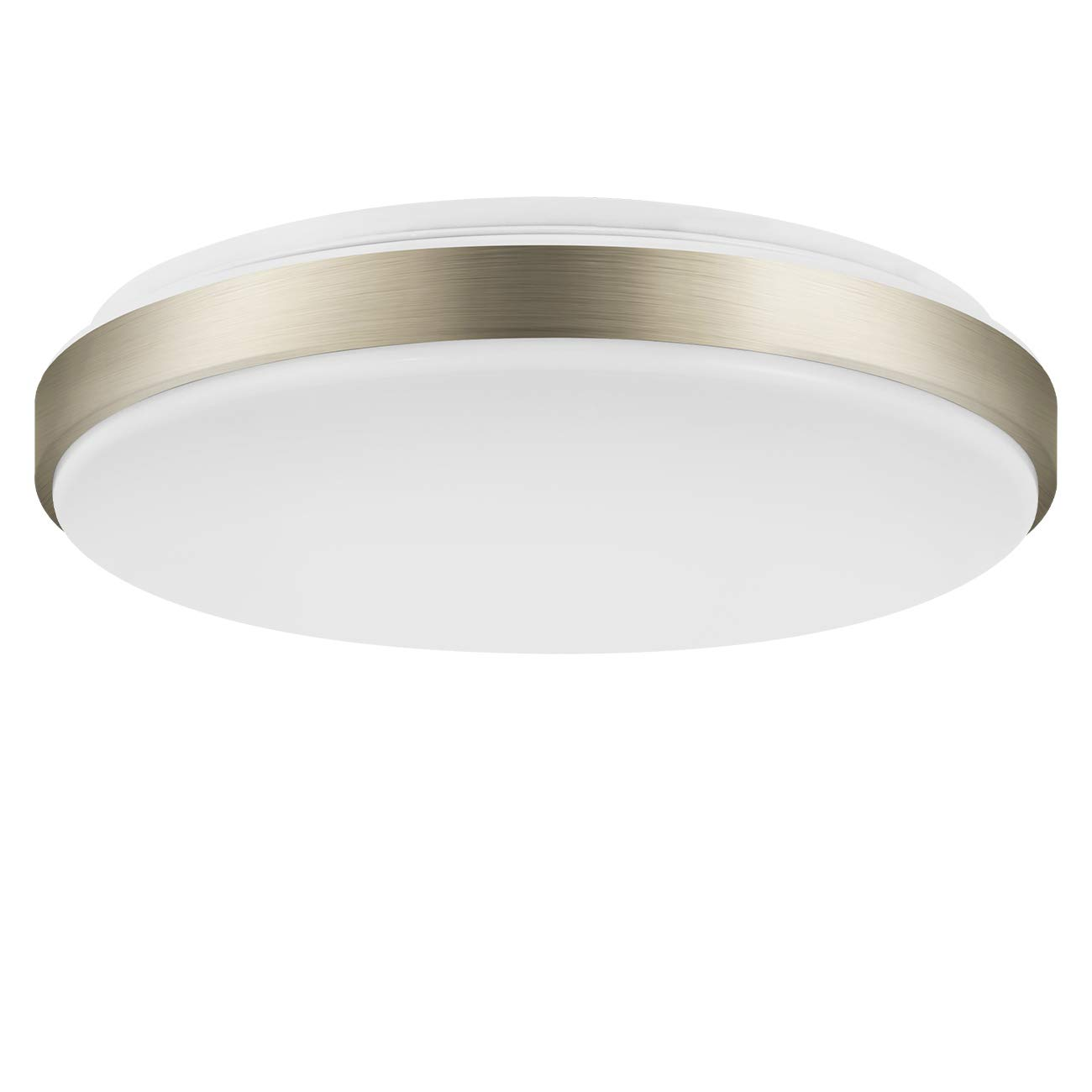 15 inch Equivalent 160W Flush Mount LED Ceiling Light,LVWIT 22W Dimmable 5000K Daylight 500 Lumens Round Lighting,Energy Star for Kitchen Dining Room