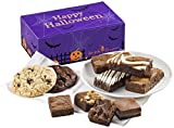Fairytale Brownies Halloween Treat Combo Gourmet Chocolate Food Gift Basket - Assorted Size Brownies and 3.25 Inch Cookies - 10 Pieces - Item FL341