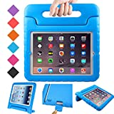 BMOUO Kids Case for iPad 2 3 4 - Shockproof Light Weight Convertible Handle Stand Case Cover for Apple iPad 9.7 Inch (iPad 2nd & 3rd & 4th Generation) - Blue