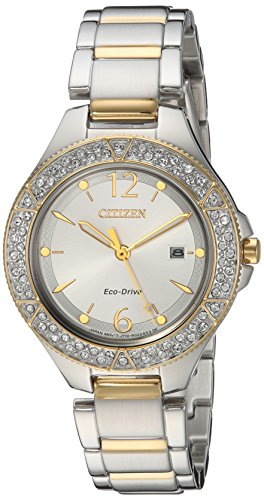 Tone Bracelet Eco Drive Two (Citizen Women's 'Eco-Drive' Quartz Stainless Steel Casual Watch, Color:Two Tone (Model: FE1164-53A))