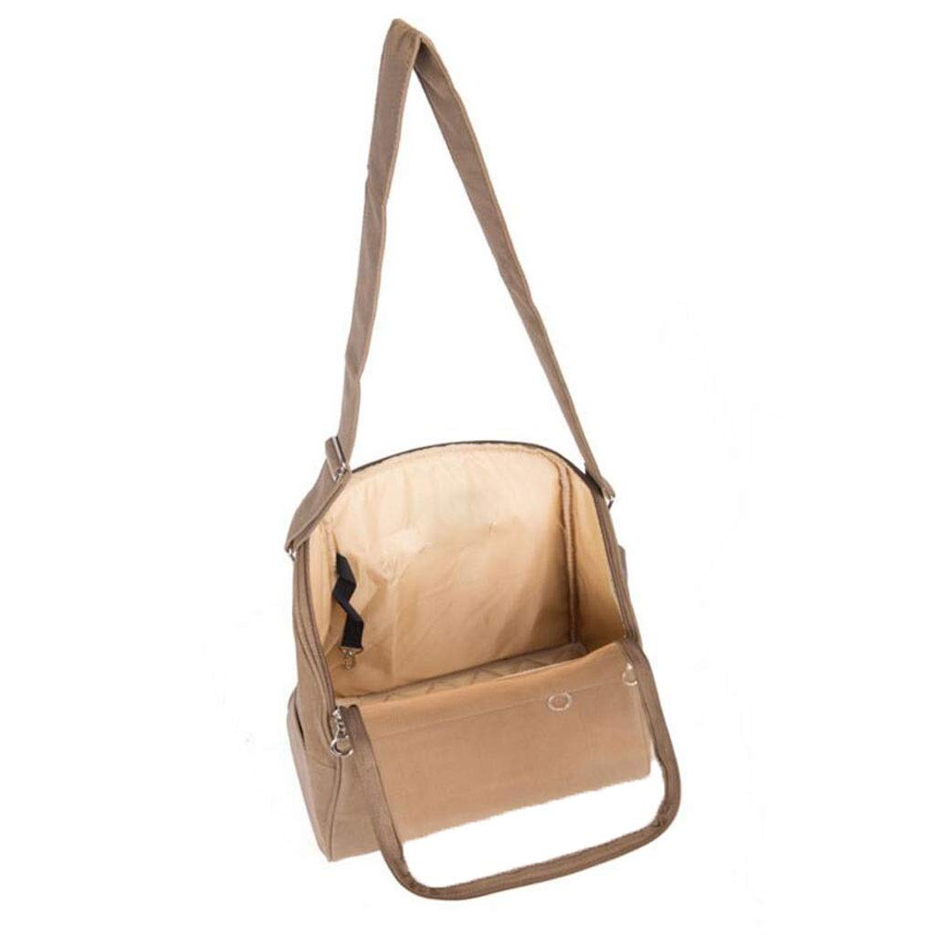 Dark khaki YULAN Out Of The Pet Box Breathable Cage Cat Dog Shoulder Diagonal Travel Portable Transport 2 color 32  40  20cm (color   Dark khaki)