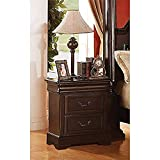 ACME 21346 Roman Empire II Nightstand, Dark Cherry Finish For Sale