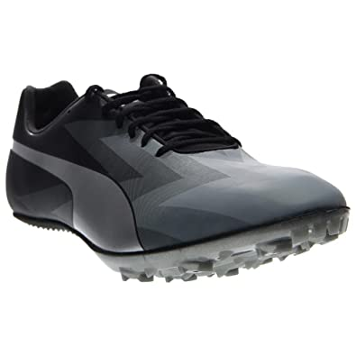 Puma Mens Evospeed Sprint V6 Running Shoes Black-Quarry-Puma Silver Size 10