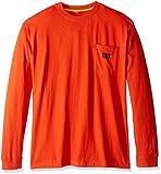 Caterpillar Big and Tall Trademark Pocket L/s T-Shirt, Adobe Orange, 2X-Large/Tall