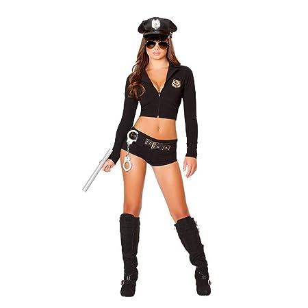 Disfraz de policía para mujer, disfraz de policía sexy con esposas ...