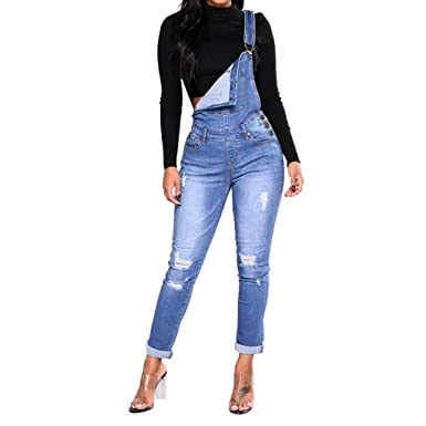 cheap prices thoughts on sale uk WANQUIY Women Denim Overalls Fashion Womens Straightforward ...