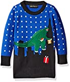 Alex Stevens Little Boys' T-Rex Godzilla Sweater, Blue Combo, 5