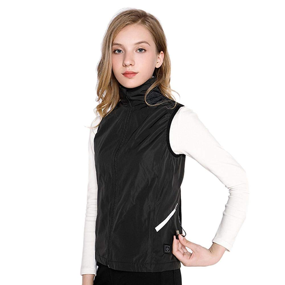 Nicololfle Electric Heated Vest, Washable Size Adjustable USB Charging Heated Polar Fleece Clothing Winter Warm Gilet