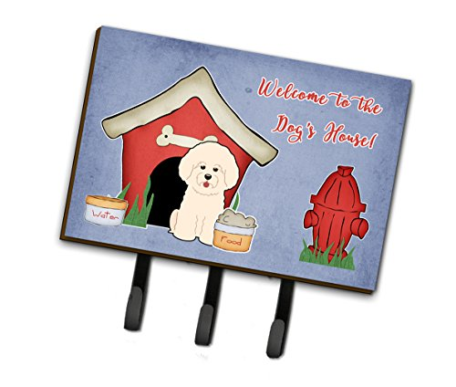 Caroline's Treasures Dog House Collection Bichon Frise Leash or Key Holder BB2829TH68, Triple, Multicolor (House Frise Bichon Dog)