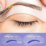 Terrece DIY Beauty Eyebrow Stencils Reusable Makeup Template Stencil Kit Shaper Tool
