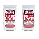 Red Crown Lye 2 lbs (2 Pack) - High Test Lye for Making Award-winning Handcrafted Soaps by The Boyer Corporation