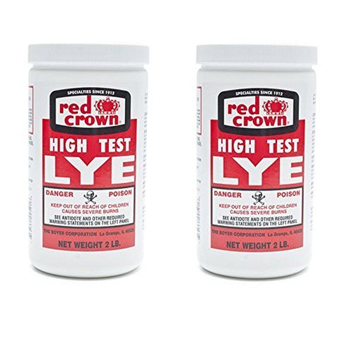 The Boyer Corporation Red Crown 2 lbs (2 Pack) -High Test Lye for Making Award-Winning Handcrafted Soaps