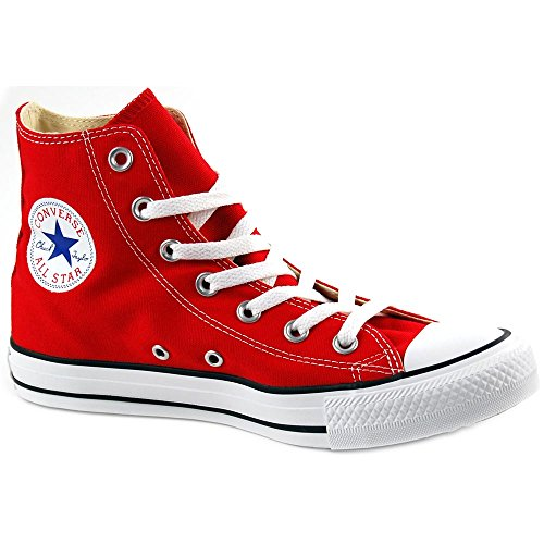 Chuck Taylor All Star Canvas High Top, Red, 14