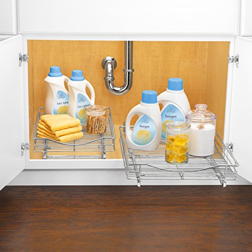 Lynk Professional Roll Out Cabinet Organizers - Pull Out Under ...