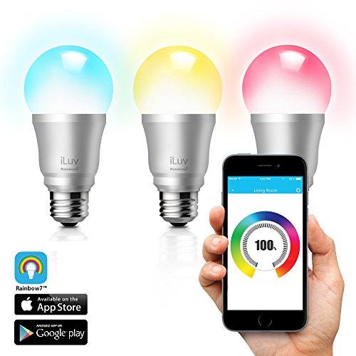 Rainbow 7 by iLuv - Smart Bluetooth App Controlled LED Li...