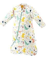SaponinTree Baby vinter sovsäck, 2,5 Tog ekologisk bomull baby sovsäck med avtagbara långa ärmar, sovsäck för spädbarn småbarn, 6-18 månader