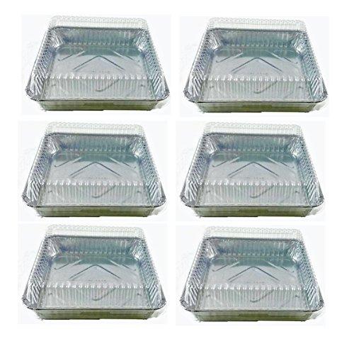 Set of 6 Durable Foil Disposable Aluminum 7 3/8