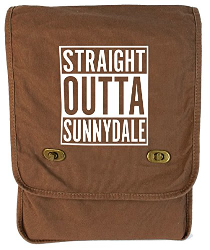 Tenacitee Straight Outta Sunnydale Java Canvas Field Bag