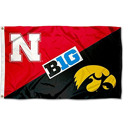 Iowa vs. Nebraska House Divided 3x5 Flag