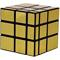 PurpleFly Golden Mirror Rubik Cube 3X3X3 High Speed (Gold)