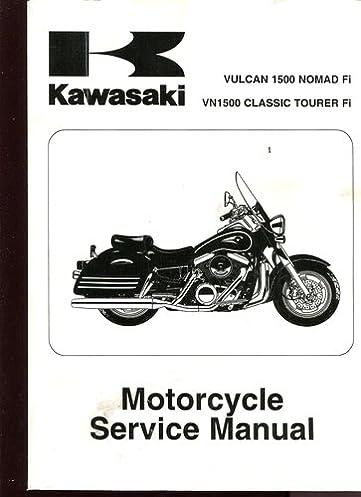 kawasaki vulcan 1500 nomad fi vn1500 classic tourer fi motorcycle rh amazon com kawasaki vn 1500 classic service manual 1998 kawasaki vulcan 1500 classic service manual