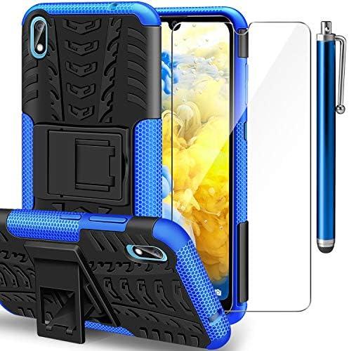 AROYI Funda Huawei Y5 2019 + Protector de Pantalla, Y5 2019 2 en 1 Duro PC Funda y Soft TPU Cáscara de Cubierta Protectora de Doble Funda Caso para Huawei Y5 2019 + Azul: Amazon.es: Electrónica