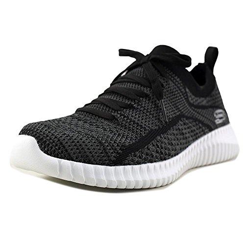 Skechers Mens Elite Flex - Ibache Black Sneaker - 7.5
