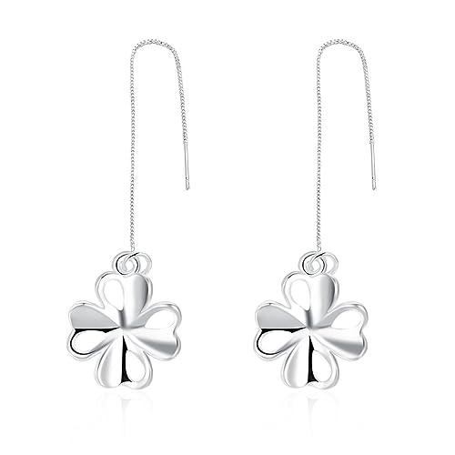 61d1fdb99313 Pendientes de lujo con forma de flor romántica para mujer
