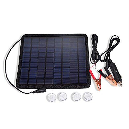 Solar Panel Cigarette Lighter Battery Charger - 9