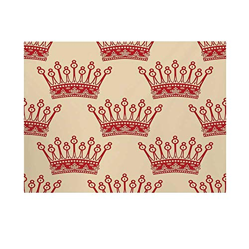 - Queen Photography Background,Crowns Pattern in Red Vintage Design Coronation Imperial Kingdom Nobility Theme Decorative Backdrop for Studio,10x10ft