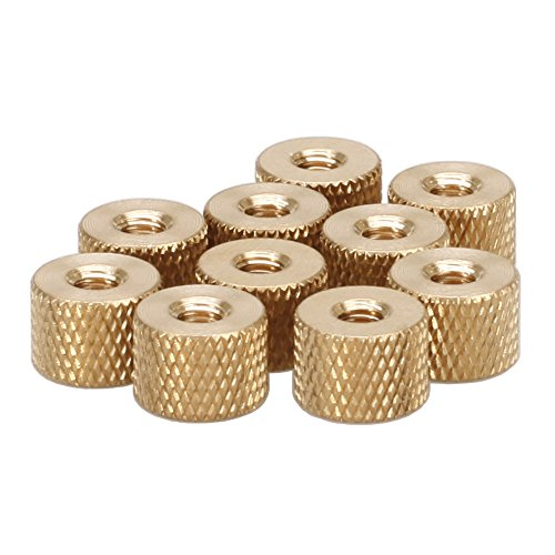M2 Brass Thumb Nut,Brass Knurled Nut,Pack 100 pcs by Huzstar